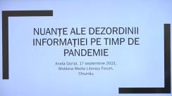 """Moldova Media Literacy Forum. Masterclass VI """"Calitatea și diversitatea informației: Nuanțe ale dezordinii informației pe timp de pandemie"""""""