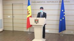 Declarațiile lui Mihai Popșoi în timpul ședinței Parlamentului Republicii Moldova din 16 septembrie 2021