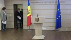 Conferință de presă susținută de către deputații fracțiunii Partidului Acțiune și Solidaritate, Dan Perciun, Lilian Carp și Boris Marcoci