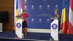 Declarații de presă comune susținute de secretarul de stat pentru afaceri europene Iulia Matei și ministrul federal austriac pentru afaceri europene și Constituție, Karoline Edtstadler