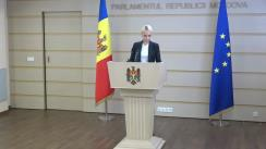 """Briefing de presă susținut de deputatul fracțiunii parlamentare a Partidului """"ȘOR"""", Marina Tauber"""