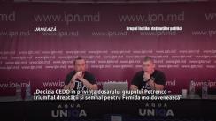 """Conferință de presă organizată de Grupul foștilor deținuților politici cu tema """"Decizia CEDO în privința dosarului grupului Petrenco – triumf al dreptății și semnal pentru Femida moldovenească"""""""