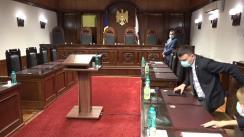 Ședința Curții Constituționale de examinare a sesizării nr. 200e/2021 privind validarea unor mandate de deputat în Parlamentul Republicii Moldova