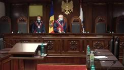 Ședința Curții Constituționale de examinare a sesizării nr. 209a/2020 privind controlul constituționalității Legii nr. 244 din 16 decembrie 2020 pentru modificarea unor acte normative