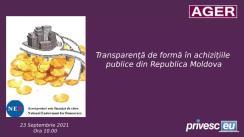 """Eveniment online organizat de Asociația pentru Guvernare Eficientă și Responsabilă cu tema """"Transparență de formă în achizițiile publice din Republica Moldova"""""""