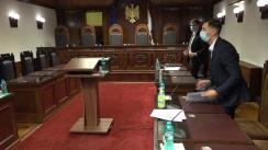 Ședința Curții Constituționale de examinare a sesizării nr. 58g/2021 privind excepția de neconstituționalitate a prevederilor articolului 1329 alin. (12) din codul de procedură penală