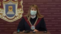 Briefing de presă susținut de Președintele ad-interim al Curții Constituționale a Republicii Moldova, Liuba Șova