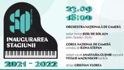 Deschiderea stagiunii concertistice 2021-2022 a Sălii cu Orgă