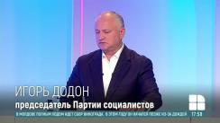 """Emisiunea """"În centrul atenției"""" de la postul de televiziune PublikaTV. Invitat - Președintele PSRM, Igor Dodon"""