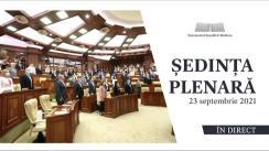 Ședința Parlamentului Republicii Moldova din 23 septembrie 2021