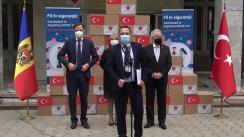 Evenimentul de donație a unui lot de vaccin Sinovac din partea Republicii Turcia