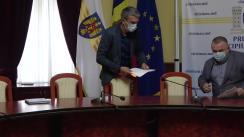 Conferință de presă susținută de consilierii municipali PSRM Victor Poleacov și Alexandru Odințov cu referire la prețurile la gaz și tarifele pentru căldură, precum și inițiativele fracțiunii PSRM de modificare a legislației în domeniul construcției