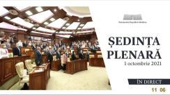 Ședința Parlamentului Republicii Moldova din 1 octombrie 2021