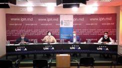 """Dezbaterea publică organizată de Agenția de presă IPN la tema """"Pandemia ca factor divergent pentru societatea moldovenească"""""""