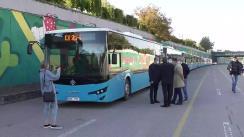 Lansarea pe rute a 10 autobuze noi de model ISUZU din lotul celor 100 de unități achiziționate recent de municipiul Chișinău