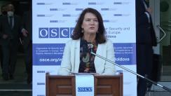 Briefing de presă susținut de Președinta în exercițiu a OSCE, ministra Afacerilor Externe a Suediei, Ann Linde