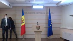 Briefing de presă susținut de către deputatul fracțiunii parlamentare a Partidului Acțiune și Solidaritate, Dumitru Alaiba