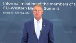 Declarație de presă susținută de Președintele României în marja participării la Summitul UE-Balcanii de Vest