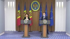Conferință de presă susținută de prim-ministrul Republicii Moldova, Natalia Gavrilița, și viceprim-ministrul pentru Digitalizare, Iurie Țurcanu