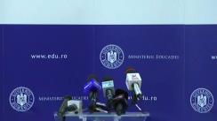 Declarații de presă susținute de ministrul Sorin Mihai Cîmpeanu pe tema consultărilor cu partenerii de dialog social