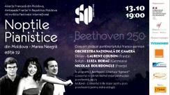 """Festivalul Internațional """"Nopțile pianistice din Moldova – Marea Neagră"""", ediția a XIX-a. Orchestra Națională de Cameră. Dirijor: Laurent Couson (Franța)"""