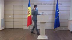 Conferință de presă susținută de Raportorul Comisiei de politică externă pentru implementarea Acordului de Asociere UE-Moldova, din cadrul Parlamentului European, Dragoș Tudorache