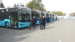 Lansarea pe rute a 9 autobuze noi de model ISUZU din lotul celor 100 de unități achiziționate recent de municipiul Chișinău