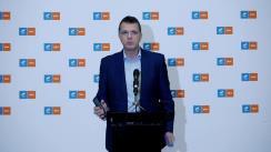 Declarație de presă susținută de Vicepreședintele USR, Ionuț Mosteanu