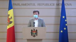 Declarațiile lui Dan Perciun în timpul ședinței Parlamentului Republicii Moldova din 14 octombrie 2021