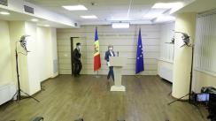 Briefing de presă susținut de vicepreședintele Parlamentului Republicii Moldova, Mihai Popșoi, și deputatei PAS, Doina Gherman