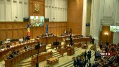 Ședința comună a Camerei Deputaților și Senatului României din 20 octombrie 2021