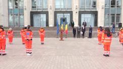 Ceremonia de delegare a unui grup de 22 de medici și 10 de paramedici din Republica Moldova în România
