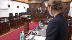 Ședința Curții Constituționale de examinare a sesizării nr. 214e/2021 privind validarea uni mandat de deputat în Parlamentul Republicii Moldova