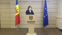 Briefing de presă susținut de deputatul PAS și președintele Comisiei economie, buget și finanțe, Dumitru Alaiba
