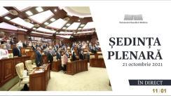 Ședința Parlamentului Republicii Moldova din 21 octombrie 2021