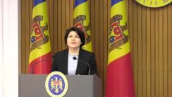 Conferință de presă susținută de Prim-ministrul Republicii Moldova, Natalia Gavrilița, și vicepreședintele Parlamentului, Mihai Popșoi