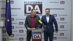 Conferință de presă organizată de Partidul Platforma Demnitate și Adevăr în legătură cu anunțul SIS privind fabricarea unui dosar penal fictiv de către angajații MAI, pe numele membrului Platformei DA, Ruslan Verbițchi