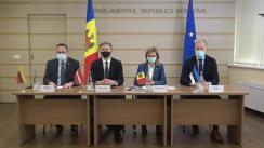 Conferință de presă susținută de președinta Comisiei politică externă și integrare europeană, Doina Gherman, și președinții Comitetelor pentru afaceri externe din cadrul Parlamentelor Țărilor Baltice