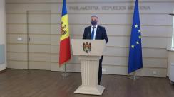 Briefing de presă susținut de către deputatul Fracțiunii Partidului ȘOR, Vadim Fotescu