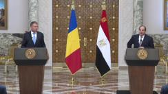 Declarații de presă comune a Președintelui României, Klaus Iohannis, cu Președintele Republicii Arabe Egipt, Abdel Fattah El-Sisi